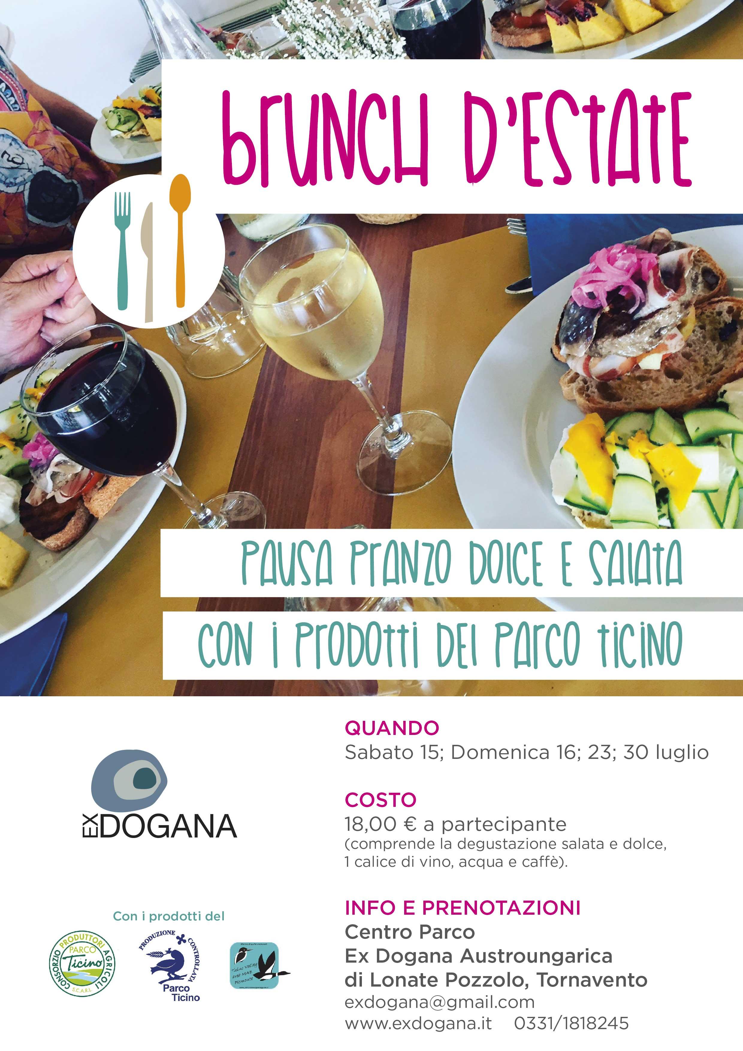 Brunch d'estate con i prodotti a marchio Parco Ticino e dell'Area Mab