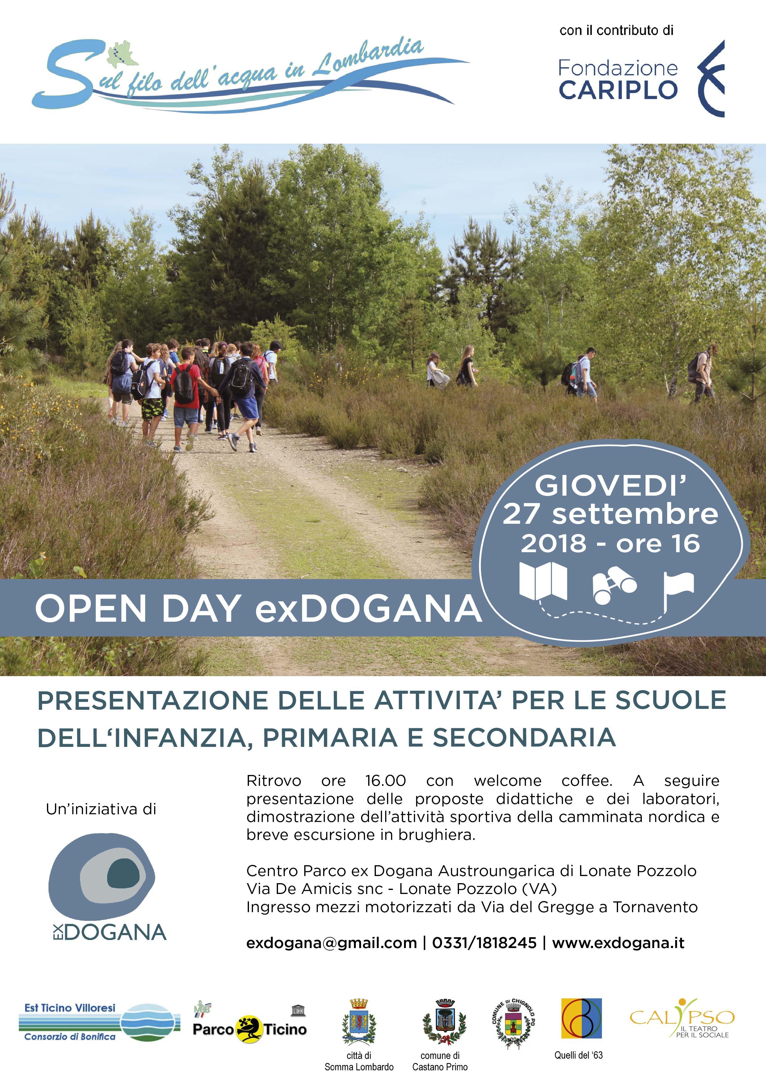 Open day ex dogana per le scuole #parcoticino